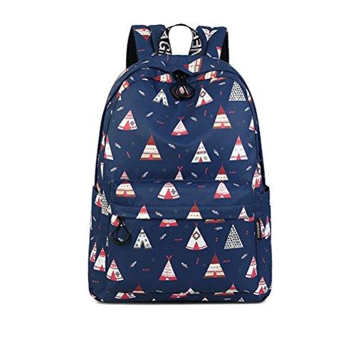sac motif bleu capacité haute à Chambre d'impression Fashion portable dos filles Winnerbag ensemble Blue de collège imperméable femmes mignon Bookbags 14 pouces vzYEqxUwn
