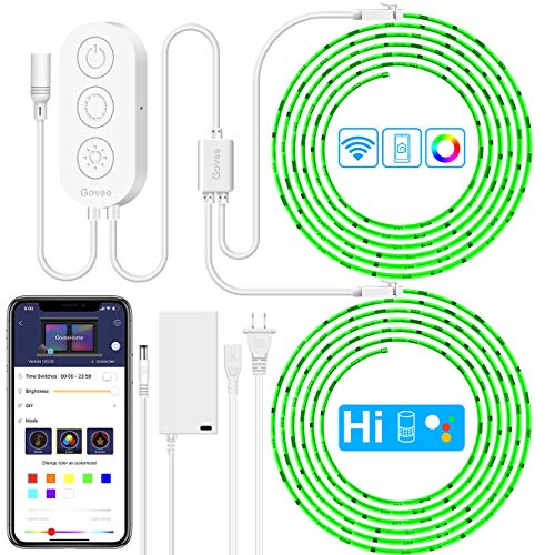 (LED Strip Lights Works with Alexa, Govee 32.8ft Waterproof Wireless Smart Phone Controlled Led Light Strip Kit, WiFi Music Sync Led Lights Strip Works with Alexa Google Assistant(Not Support)
