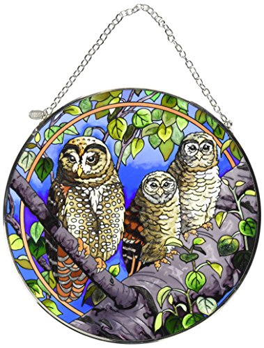 (Amia Handpainted Glass Spotted Owl Suncatcher, 6-1/2-Inch)