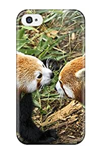 Iphone 4/4s Case Cover - Slim Fit Tpu Protector Shock Absorbent Case (red Panda Animal)