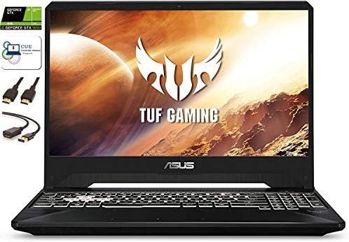 "Asus TUF Gaming Laptop, 15.6"" 144Hz FHD IPS, Intel Hexa-Core i7-9750H, Nvidia GeForce GTX 1650, RGB Backlit Keyboard, Webcam, Windows 10 + CUE Accessories (8GB DDR4, 512GB SSD)"