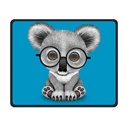 Mouse Pad Cute Baby Koala Bear Wearing Glasses Smooth Nice Personality Design Mobile Gaming Mouse Pad Work Mouse Pad Office Pad (Stuffed Animals Wearing Glasses)