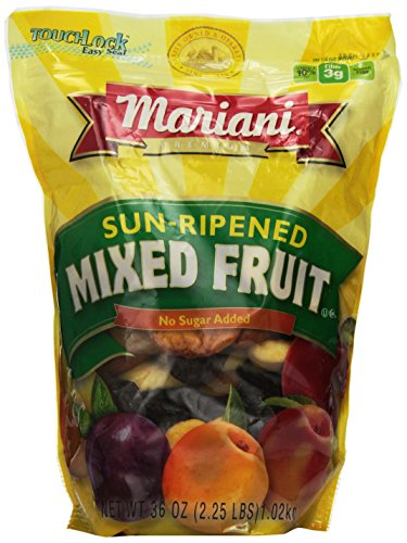 Mariani Sun Ripened Mixed Fruit No Sugar Added Dried Fruit 36 Ounce Value Bag (Sun Dried Fruits)