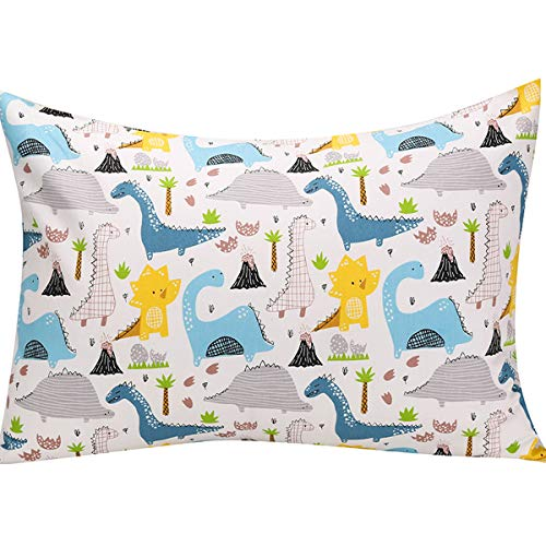 UOMNY Kids Toddler Pillowcases 1 Pack 100% Cotton Pillow Cover Pillowslip Case Fits Pillows sizesd 13 x 18 or 12x 16 for…