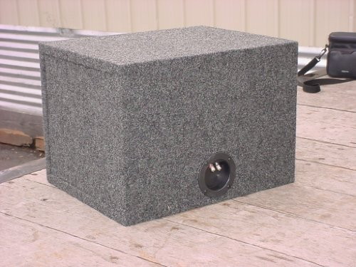 R/T 300 318-15 Enclosure Series - Single 15-Inch Slot Vented Sub Bass Hatchback Speaker Box with Labyrinth Power Port