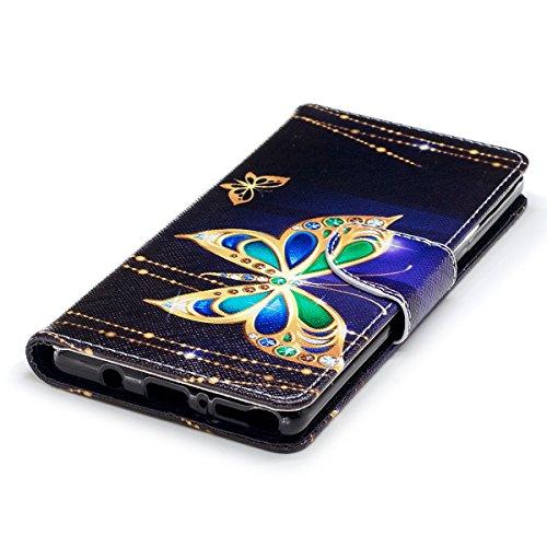 Galaxy Protection Case Leather Flip Note 3 Wallet De À Etui 8 Anti housse 8 Choc Housse Samsung Rabat Avec Pu samsung 8 Coque Ultra Peintures Euwly Magnétique mince Papillon xwZREE