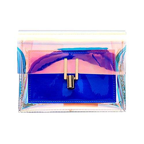 Longra☆ ¡¡¡Mira aquí Mujeres Transparentes del Laser Crossbody empaqueta el Bolso de Hombro del Mensajero Bolsos Impermeables del Bolso de la Playa: ...