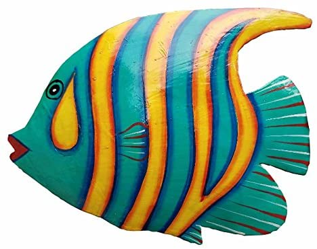 Blue tropical metal fish wall decor Decorating Ideas Wall Hanging Haitian Arts