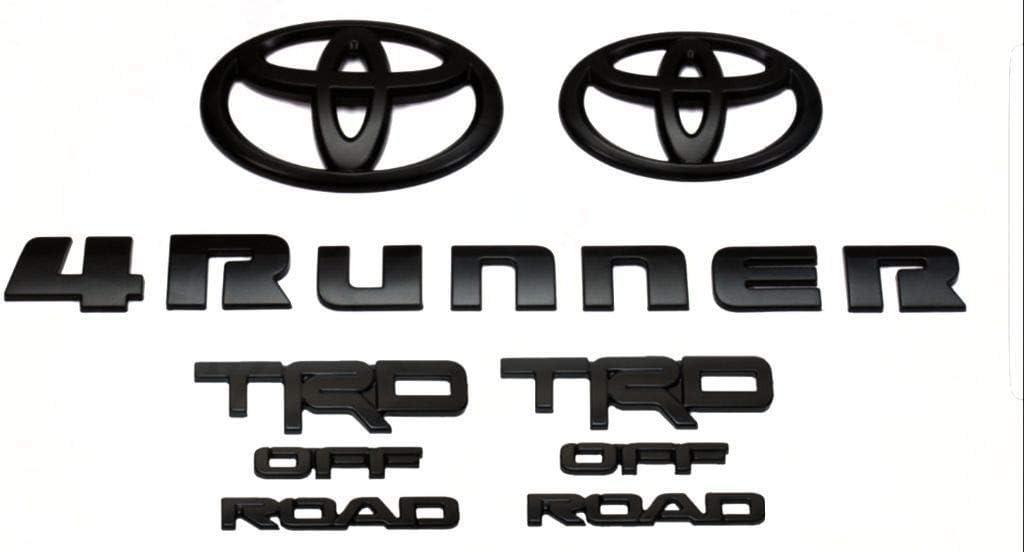 Black 5 Piece Emblem Overlay Set 2018-2019 4Runner. Genuine Toyota 4Runner Blackout Emblem Overlay Set PT948-89180-02