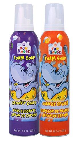 (Moneysworth & Best Fun House Kids Foam Soap Groovy Grape & Orange Splash, 2 Pack)