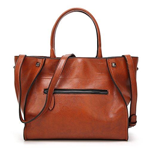 Obosoyo Hobo Brown Messenger Handle Tote Top Bag Lady Satchel Handbags Purse Women Shoulder vH4xqvr