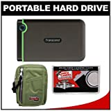 Transcend 1TB USB 3.0 StoreJet 25M3 Portable Hard Drive with Case + Cleaning Cloth, Best Gadgets