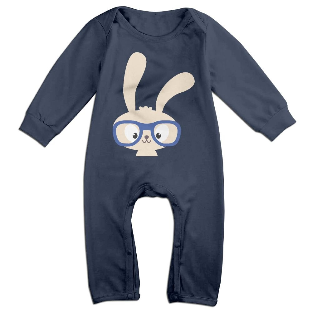 Glasses RabbitBaby Long Sleeve Jumpsuit Adorable