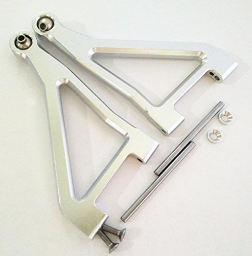 Aluminum Alloy Front Upper Suspension Arm for TRAXXAS 1/7 UDR Unlimited Desert Racer Silver ()