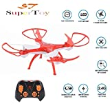 Supertoy(Tm) Drone Professional Quadcopter 360° Drone With 2.4G Rc Helicopter Toy Without Camera