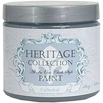 Cathedral, Heritage Collection All In One Chalk Style Paint (NO WAX!) (16oz)