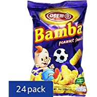 Bamba Peanut Butter Snacks All Natural Peanut Butter Corn Puff Snack (Pack of 24 1oz Bags)