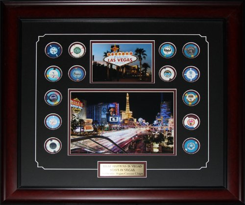 Las Vegas Casino Chips Set frame