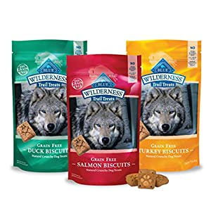 Blue Buffalo Wilderness Dog Trail Treat Biscuits Variety Pack - Grain Free - 3 Flavors (Duck, Turkey, Salmon) - 10 oz (3 Total Bags) 5