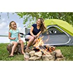 CORE Equipment 4 Person Instant Dome Tent - 9' x 7', Green 14 Instant 30 second setup; sleeps 4 people; fits one queen air mattress; center height: 54 Core H20 block technology and adjustable ground vent Features gear loft with lantern hook and pockets to keep items organized and off the tent floor