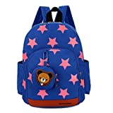 DafenQ Kids Backpack - Cute Bear Toddler Schoolbag Baby Lunch Boxes Carry Bag or Preschool Kindergarten Book Bags (Blue)