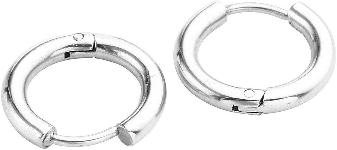10 Stueck spiralfoermig Piercing Ohrringe Nase In Stahl Strass J6S1 1X