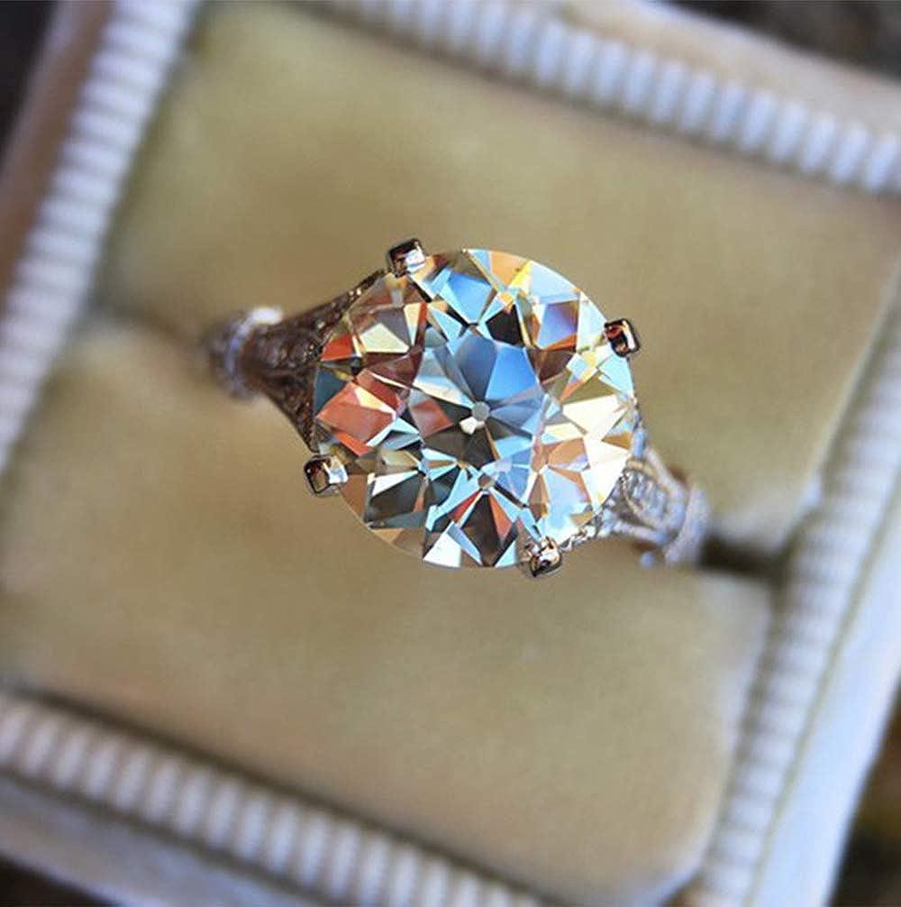 Loweryeah Artistic Style Round biling Zircon Ring