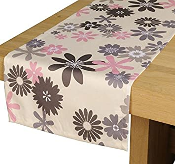 Amazon De Outdoor Tischlaufer Capri Grau Rosa Gartentisch Laufer