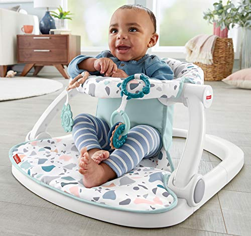 Fisher-Price Sit-Me-Up Floor Seat – Pacific Pebble Theme, Infant Chair