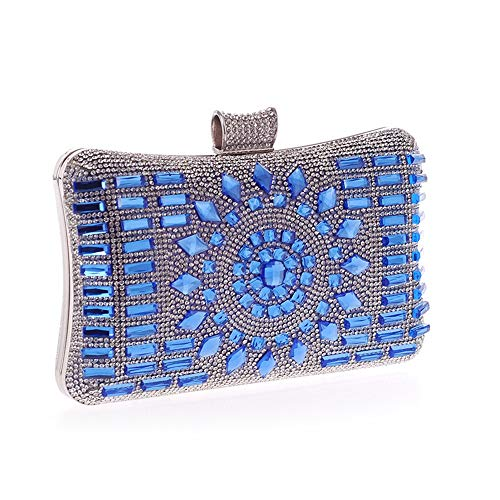 Color Special Evening Evening for Blue Clutch Handbag Purse Clutches Crystal Clutch Occasion Party Handbags amp; Wedding Bag Purse Women Clubs Blue Bags Jxth Evening w15q07n