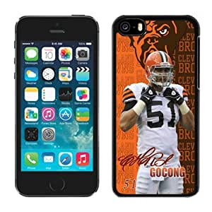 NFL&Cleveland Browns-Chris Gocong iPhone 5C Case Gift Holiday Christmas Gifts cell phone cases clear phone cases protectivefashion cell phone cases HLNKY605583119
