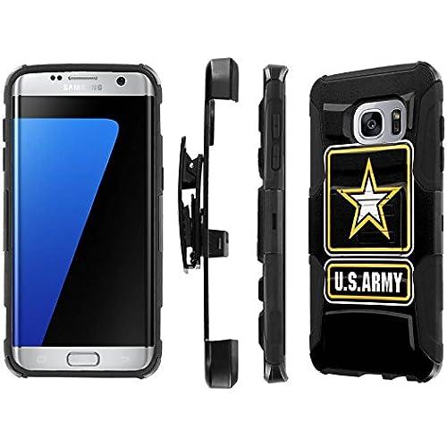 S7 Edge / GS7 Edge [5.5 Screen] Case, [NakedShield] [Black/Black] Heavy Duty Holster Armor Tough Case - [Army] for Samsung Galaxy S7 Edge / GS7 Edge [5.5 Screen] Sales