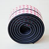 LivingParadise Bumper Strip Surface Protector Corner Edge Kushion Guard for Airwheel Self-Balancing Unicycle 2Meters long with Widen Original 3M Double Sticky Tape (Black)