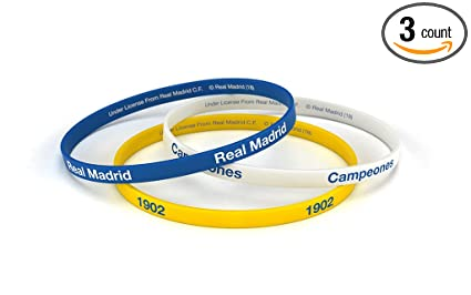 Amazon.com: Real Madrid Club de fútbol pulsera clásico ...