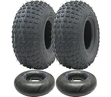 Parnells 2-145/70-6 - Juego de neumáticos y cámaras de Cuatro Ruedas 50cc 90cc 110cc 75 kgs - Neumático Wanda P319 Quad: Amazon.es: Jardín