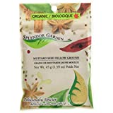Splendor Garden organic Mustard Seed Yellow Grd,45.0 Gram