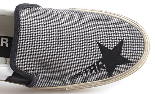 GOLDEN GOOSE Zapatos Hombre Sneakers Slip Seastar White Black Micro Check New