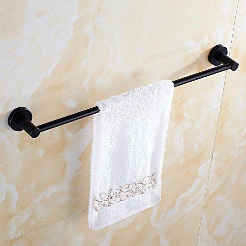 delicate YONG Black retro towel rack single rod stainless steel towel rack bathroom shelves , 70cm