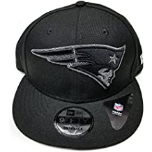 New Era New England Patriots 9Fifty Black & White Logo Adjustable Snapback Hat NFL