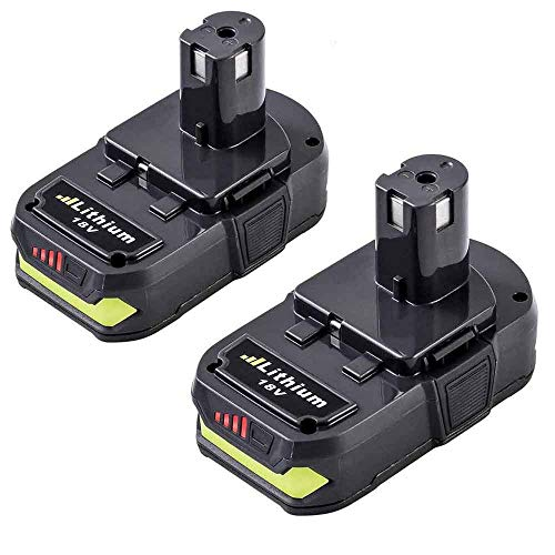 10 Pack P102 Lithium-Ion 18 Volt Replace for Ryobi 18V Battery One Plus 2500mAh P103 P104 P105 P107 P108 P109 for Ryobi 18V One+ Cordless Power Tools ()