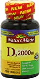Nature Made Vitamin D3 2000 IU, Value Size, 220-Count, Health Care Stuffs