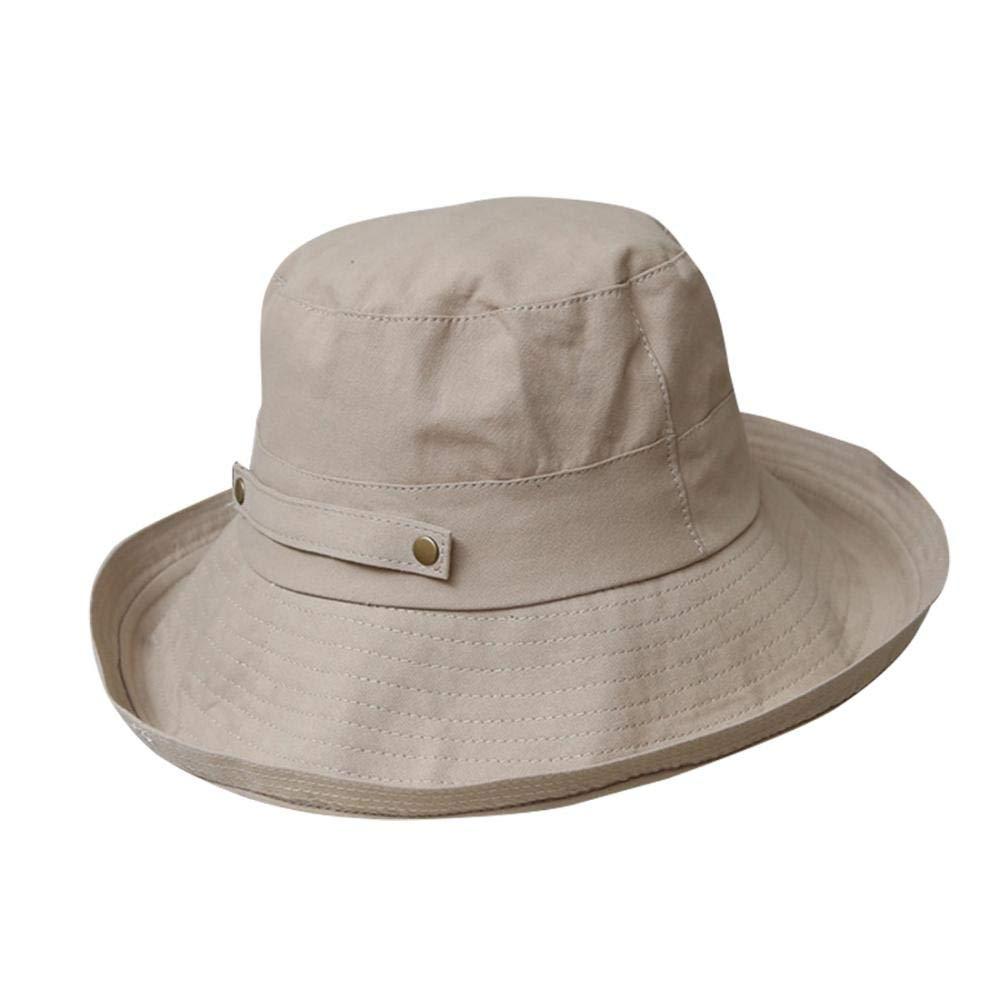 578f0995f Women Foldable Bucket Hat UV Sun Protection Rolled Brim Summer Beach ...