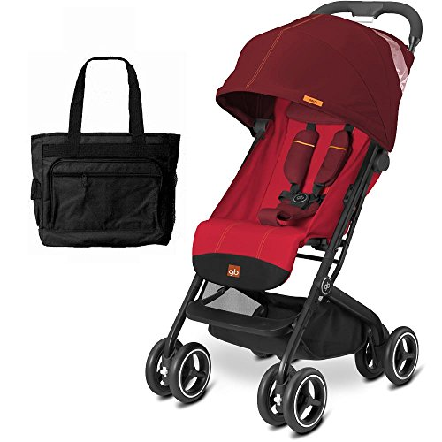 Goodbaby GB QBIT Plus Baby Stroller with Diaper Bag Dragonfire Red by The Good Baby