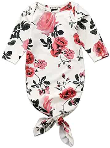 bc909b9176f Newborn Baby Floral Sleeping Gown Swaddle Sack Coming Home Sleepwear Romper  Sleeping Bags Outfit