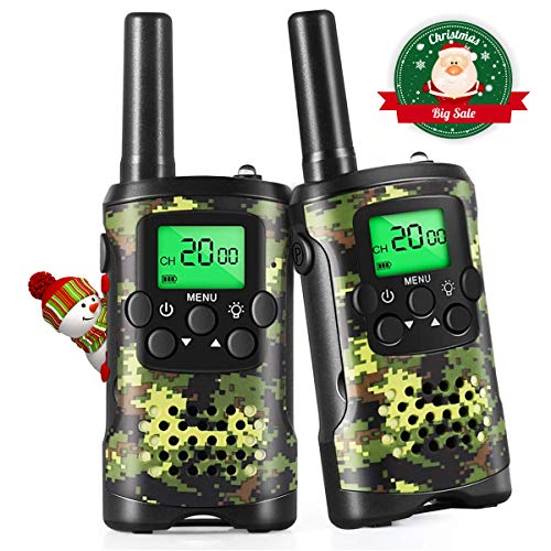 Walkie Talkies for Kids, 22 Channel 2 Way Radio 3 Mile Long Range Kids Toys & Handheld Kids Walkie Talkies, Best Gifts & Top Toys for Boy & Girls Age 3 4 5 6 7 8 9 for Outdoor Adventure Game