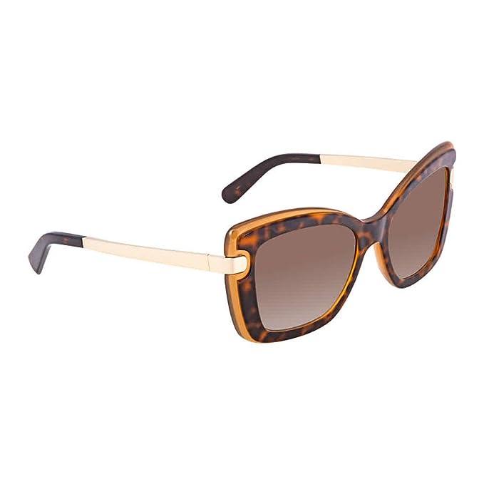 6e1562b5e43 Salvatore Ferragamo Women s SF814S Havana Amber Sunglasses  Amazon ...