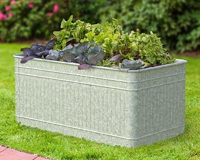 Panacea 83475 Vintage Rectangle Raised Garden Bed Planter by Panacea