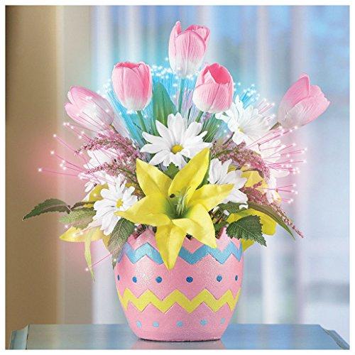 Optic Centerpiece (Fiber Optic Easter Egg Floral Centerpiece Beautiful Light Up Home Decor)