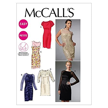 Unbekannt Mc Call´s Schnittmuster 6460 E5 Damen Kurzgrößen Kleid in ...