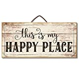 Highland Graphics Motivational Sign 'This is My Happy Place' Table or Wall Decor